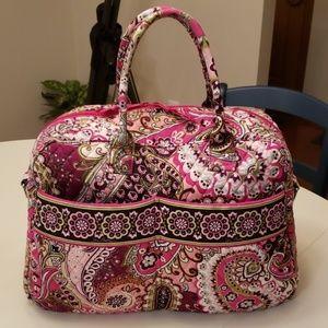 Vera Bradley Very Berry Paisley weekender bag